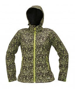 Sieviešu Softshell auduma ( elpojoša, vēja/lietus necaurlaidīga) jaka ar kapuci