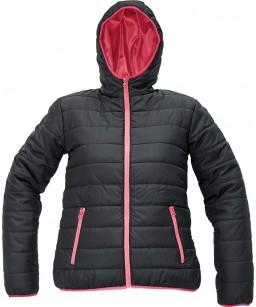 Sieviešu silta jaka ar kapuci, vēju un ūdens atgrūdošs audums. FIRTH