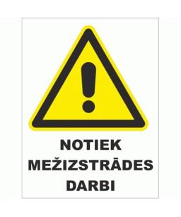 Plastikāta Zīme NOTIEK...
